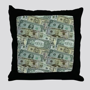 Easy Money Throw Pillow