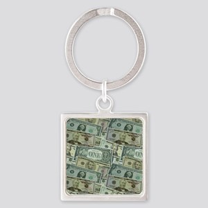 Easy Money Square Keychain