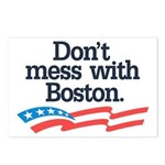 Dont Mess With Boston Postcards (Package of 8)