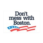 Dont Mess With Boston Wall Decal