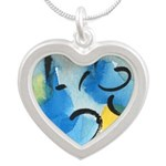 As Above So Below #13 Silver Heart Necklace