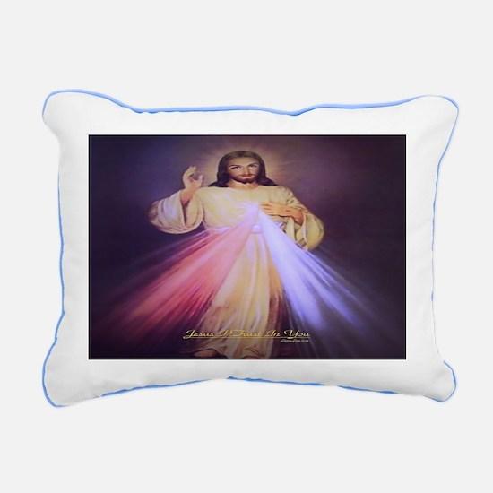 Divine Mercy Gold Rectangular Canvas Pillow