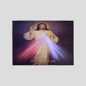 Divine Mercy Gold 5'x7'Area Rug