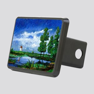 (oil on board) - Rectangular Hitch Cover