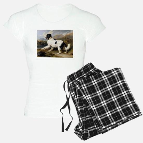 Painting of Newfoundland Landseer Pajamas