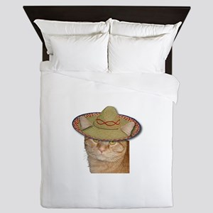Cinco de Gato Queen Duvet