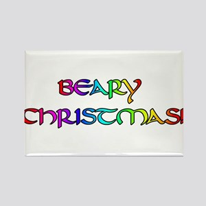 BEARY CHRISTMAS RAINBOW Rectangle Magnet