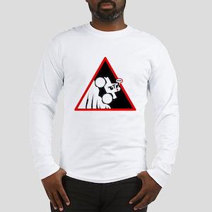 Hill Climb DUDE Danger Signs Long Sleeve T-Shirt