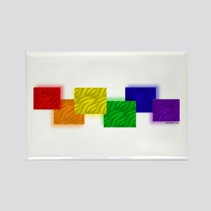 Gay Pride Blocks Rectangle Magnet