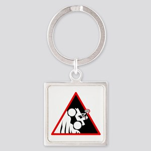 Hill Climb DUDE Danger Signs Keychains