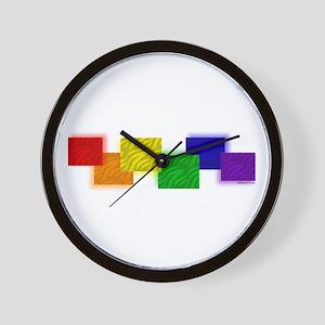 Gay Pride Blocks Wall Clock