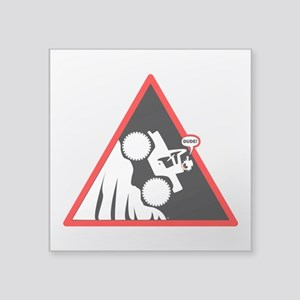 Hill Climb DUDE Danger Signs Sticker