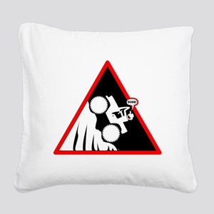 Hill Climb DUDE Danger Signs Square Canvas Pillow