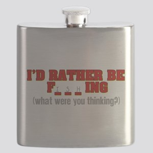 Rather Be Fishing Flask
