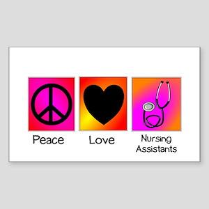 peace love nursing assistants Sticker