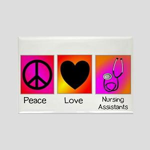 peace love nursing assistants Rectangle Magnet
