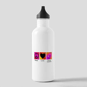 peace love nursing assistants Water Bottle