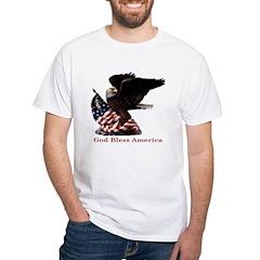 God Bless America Eagle White T-Shirt