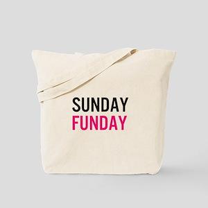 Sunday Funday (black / pink) Tote Bag