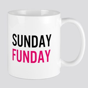 Sunday Funday (black / pink) Mug