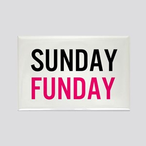 Sunday Funday (black / pink) Rectangle Magnet