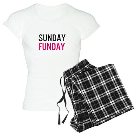 Sunday Funday (black / pink) Pajamas