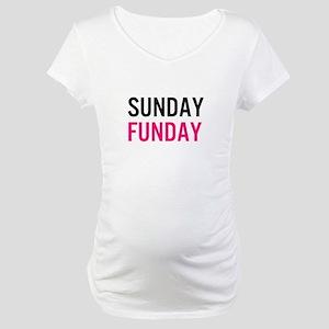 Sunday Funday (black / pink) Maternity T-Shirt