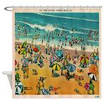 Vintage Virginia Beach Postcard Shower Curtain