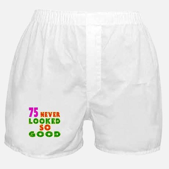 75 Birthday Designs Boxer Shorts