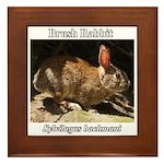 Brush Rabbit Framed Tile