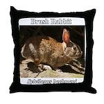 Brush Rabbit Throw Pillow