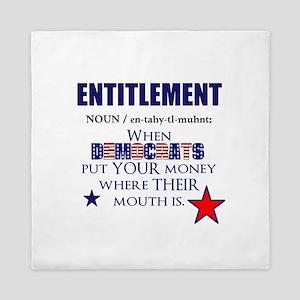 Entitlement Queen Duvet