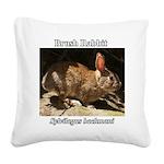 Brush Rabbit Square Canvas Pillow