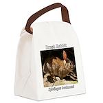 Brush Rabbit Canvas Lunch Bag