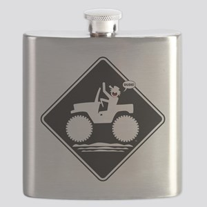 Jeeping DUDE Warning Placards Flask
