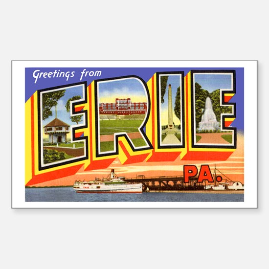 Erie Pennsylvania Greetings Rectangle Decal