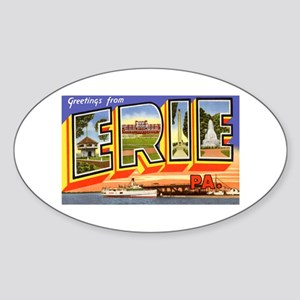 Erie Pennsylvania Greetings Oval Sticker