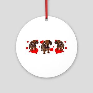 Dachshund Dachsie Puppies Ornament (Round)