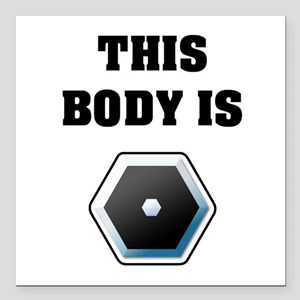 """Pefection Square Car Magnet 3"""" x 3"""""""