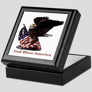 God Bless America Eagle Keepsake Box