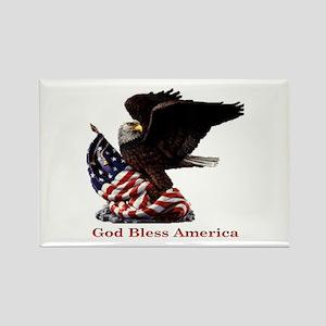 God Bless America Eagle Rectangle Magnet
