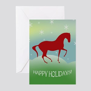 Happy Holidays Dressage Greeting Cards (Package of