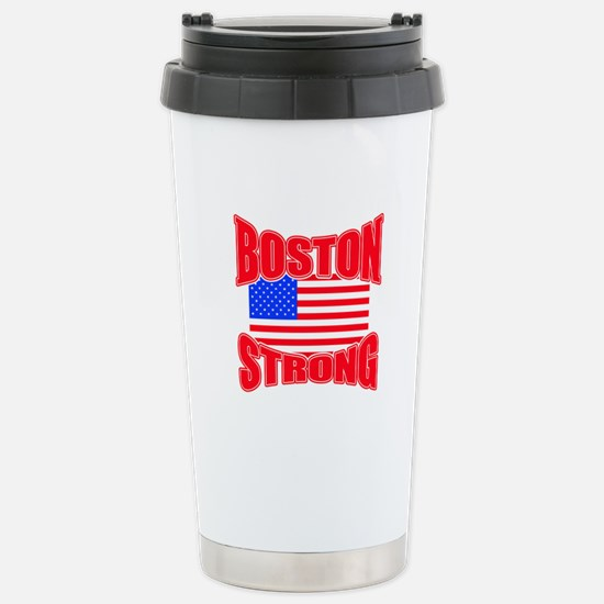 Boston Strong with Pride Stainless Steel Travel Mu