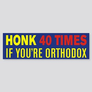 Orthodox Bumper Sticker