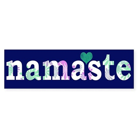 Namaste Heart Bumper Sticker