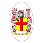 Burke Sticker (Oval 50 pk)
