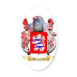 Burgoyne Oval Car Magnet