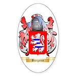 Burgoine Sticker (Oval 10 pk)