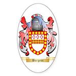 Burgess Sticker (Oval 50 pk)
