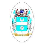 Burgess 2 Sticker (Oval 10 pk)